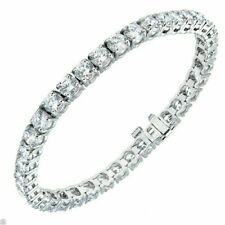 Valentine Sale Certified 6Ct Round Cut Diamond Tennis Bracelet 14k White Gold FN