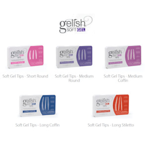 Harmony Gelish Soft Gel Tips [5 Shapes] -Box Of 550 Tips- **Pick Your Shapes**