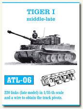 Friulmodel Metal Tracks for 1/35 German Tiger I Middle-Late (220 links) ATL-06