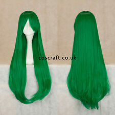 80 cm LONG STRAIGHT Cosplay Parrucca con Frangia in verde foresta UK Venditore, Alex stile