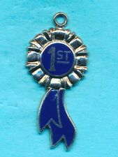 Vintage Wells Sterling Silver Enamel First Price Charm