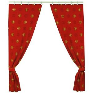 EXTRA LARGE - MANCHESTER UNITED Football Curtains Kids Man Utd - 66 x 72 Inch