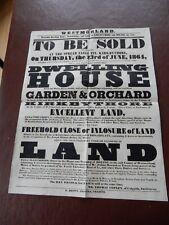 Kirkbythore Historic Poster rare survivor poor condition 1864