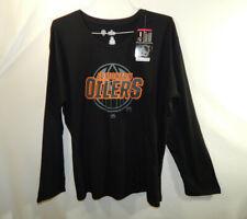 NWT Edmonton Oilers NHL Hockey Long Sleeve Shirt Majestic Womens Plus 1X XL