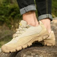 Men Lace Up Military Army Ankle Boot Tactical Combat Desert Hiking Shoes Outdoor