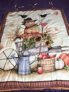 Quilted Fall Wall Hanging  33 x 42 Cottage Farmhouse