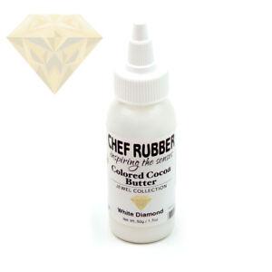 Chef Rubber Jewel White Diamond Cocoa Butter, 50g/1.7 Oz