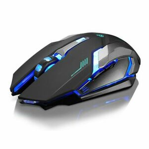 New Rechargeable X7 Wireless Silent Backlit USB Optical Ergonomic Gaming Mouse