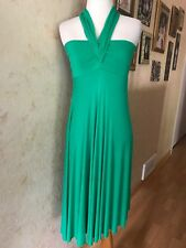 Elan Green Halter Strapless High Low Summer Dress Size M