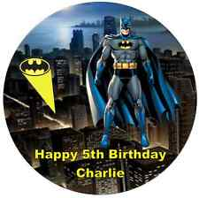 19cm Personalised Batman Edible Wafer Paper Cake Topper