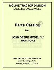 John Deere L Tractor Parts Manual Catalog Jd 1937-1946