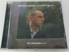 Robert Schumann Lieder CD (2004) Matthias Goerne Eric Schneider Piano
