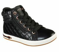 Skechers 310600 Shoutouts Quilted Squad Girl's Black/Rose Gold Boots HALF PRICE