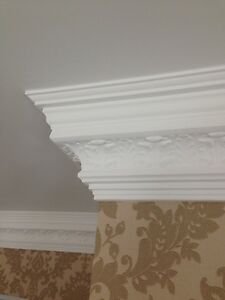 French Waterleaf Handmade Fibrous Plaster Cornice (coving)