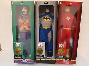 "Lot Of 3 Mego Classic BATMAN Blue & Gray 14"" Action Figure Joker Flash DC Comics"