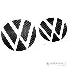 Emblem Ecken Carbon Schwarz vorne+hinten VW Golf 7 VII GTI GTD R Turbo Logo