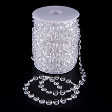 99 FT Garland Diamond Strand Acrylic Crystal Bead Beaded Wedding Decoration