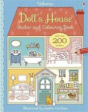 USBORNE DOLL'S HOUSE STICKER AND COLOURING BOOK