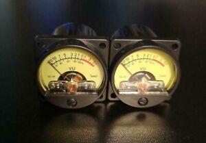 2x Vu meter, coppia, indicatori a lancetta, vumeter, strumenti indicazione NUOVI