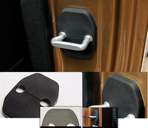 ABS Black Car Door Lock Protector Rust Proof Cover For Jeep Compass Cherokee