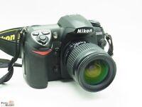 Nikon DSLR Kamera D200 + Nikkor Zoom-Objektiv 28-80 mm 3,5-5,6 D lens Ø 58mm
