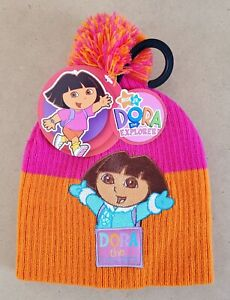 Nickelodeon Jr. Dora The Explorer – Dora Kids/Girls Beanie Hat Size 4-6 NWT