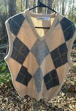 LL Bean beige argyle sweater vest
