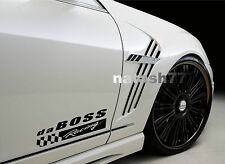 da BOSS Racing Vinyl Decal Sticker Sport Car Truck SUV emblem logo BLACK