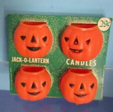 Vintage 1950'S Gurley Pumpkin Candles In Original Package