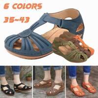 Summer Women's Gladiator Hidden Wedge Heel Sandals Casual Round Anti Slip Shoes