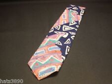 Pink BELLE Mens neck tie  pre owned pink  Blue white green 100% Silk