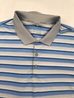 Men's Adidas Golf ClimaCool Striped Short Sleeve Golf Polo Shirt Size XL