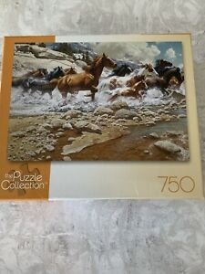 "The Puzzle Collection ""The Wild Ones"" 750 piece Puzzle Frank McCarthy Horses"