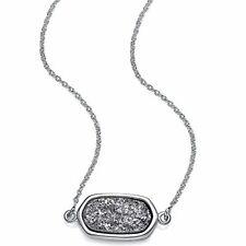 Collar Colgante Plata De W&m en platino con drusa prefecto Druzy con inspiradoras G