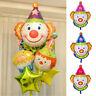 "24"" Clown Head Mylar Foil Balloon Kids Birthday Circus Carnival Xmas Party Decor"