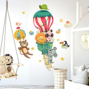 R00520 Wall Stickers Adesivi Murali Camerette animali giungla 30x120 cm