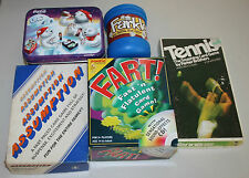 Lot of 5 Complete Card Games - Coca Cola UNO, Fart!, Farkle, Tennis, Assumption