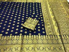 Readymade soft banarasi silk saree with heavy rich pallu n blouse material