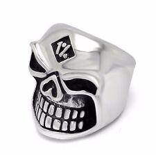 【From US 】316L Stainless Steel Ring Size 12, Biker 1%  Skull Cool Rocker