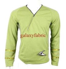 Star Trek Green Wrap Command Uniform Costume Shirt TOS The Original Series