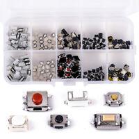 250Pcs Tactile Push Button Switch Car Remote Key Button Microswitch Tool Kit