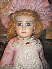 "22"" Doll reproduction Ufdc Bev Schmelling Buffalo, Ny victorian antique Doll"