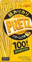 "Glico ""PRETZ"", Crispy Thin Pretzels, Butter & Soy Sauce, Japan, 100 sticks"