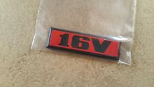 VW Golf 2 Heckemblem 16V rot GTI Tuning Limited Edition Emblem One Blue Fire