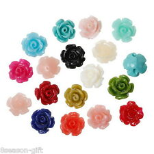 """50PCs Coral Beads Rose Shaped Mixed Multi-colored 9mm x8mm( 3/8"""" x 3/8"""")"""