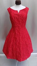 GORGEOUS NEW COAST RASPBERRY FLORAL FIT & FLARE EVENING DRESS SIZE 16