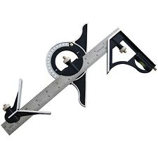 """12"""" COMBINATION SQUARE With Protractor Carpenters Carpentry Angles DIY Tools"""