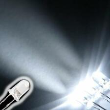 100 3V Ultra Bright White LED Emitting Diode Lights Bulbs Lamp 5mm6000-6500K