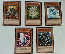 Yu-Gi-Oh 5 Cards Vengeful Shinobi Majestic Mech Field-Comm Rahz Trident Warrior
