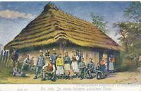 WW1 WK 1 Militaria Kriegsfürsorgeamt Polen Polska Bäuerliche Familie Dorf